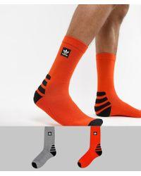 adidas Originals - 2 Pack Socks In Orange Dh2567 - Lyst