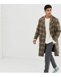 Noak - Wool Overcoat In Camel Check - Lyst