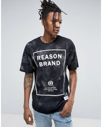 Reason - Logo T-shirt In Acid Wash - Lyst