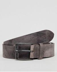 DIESEL - Textured Leather Belt In Grey - Lyst