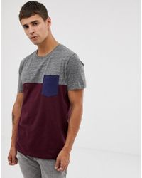 Esprit - T-shirt With Colour Block And Chest Pocket - Lyst