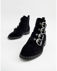 Pimkie - Buckle Detail Studded Boots - Lyst