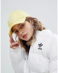 adidas Originals - Originals Adicolor Trefoil Cap In Yellow - Lyst