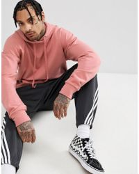 Sixth June - Hoodie With Dropped Shoulder In Pink - Lyst