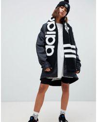 adidas Originals - Trefoil Logo Scarf In Black - Lyst