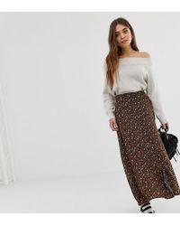 Pull&Bear - Maxi Skirt In Ditsy Print - Lyst