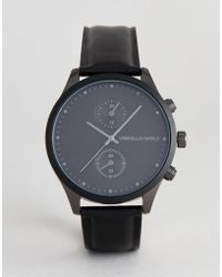 ASOS - Watch In Black And Gunmetal With Sub Dials - Lyst