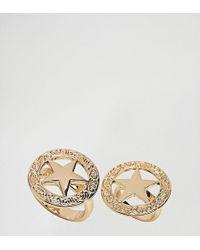 Monki - 2 Pack Star Rings - Lyst