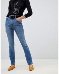 Warehouse - High Waisted Sculpting Skinny Jeans In Mid Wash - Lyst