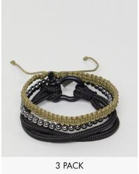 Icon Brand - Black Combo Bracelet In 4 Pack - Lyst