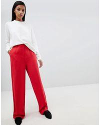 SELECTED - Femme Wide Leg Trouser - Lyst