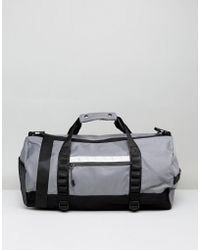 River Island - Holdall In Grey - Lyst