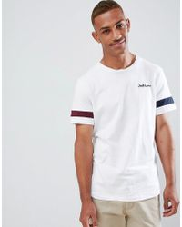 Jack & Jones - Originals T-shirt With Pique Arm Stripe - Lyst