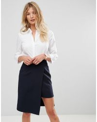 ASOS - Fuller Bust 3/4 Sleeve Shirt In Stretch Cotton - Lyst
