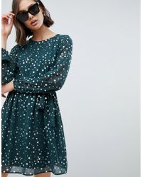 Vero Moda - Spot Skater Dress - Lyst
