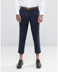 Farah - Tarling Micro Weave Crop Suit Trousers - Lyst