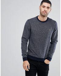 Farah - Romilly Textured Sweatshirt In Navy - Lyst