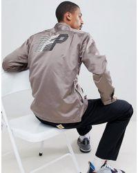 FairPlay - Satin Coach Jacket With Back Print - Lyst