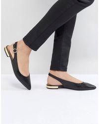 Dune - Patent Slip On Sling Back Shoe - Lyst