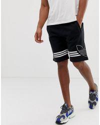 7dd065d3e69 adidas Originals Trefoil Woven Shorts in Green for Men - Lyst
