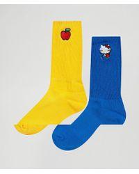 Lazy Oaf - Hello Kitty Apple 2 Pack Socks - Lyst