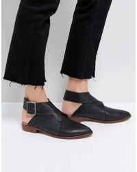 Free People - Leather Wrap Ankle Boots - Lyst