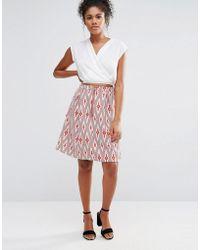Glamorous - Aztec Print Midi Skater Skirt - Lyst