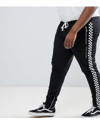 Criminal Damage - Skinny Joggers With Checkerboard Stripe Exclusive To Asos - Lyst