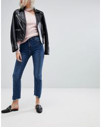 Urban Bliss - Cropped Kick Flare Jean With Front Seam And Raw Hem - Lyst