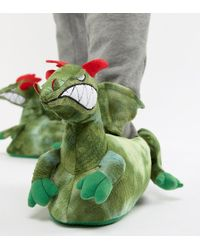 ASOS - Pantuflas verdes Dragon de - Lyst