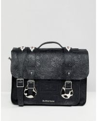 Dr. Martens - Embossed Leather Satchel 15 Inch - Lyst