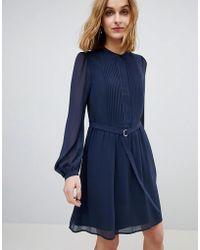Warehouse - Chiffon Shirt Dress - Lyst