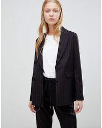 B.Young - Stripe Suit Blazer - Lyst