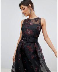 Coast - Izzy Sheer Layered Dress With Jacquard Print - Lyst