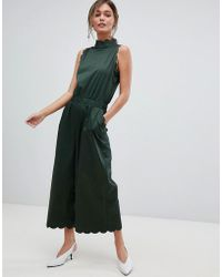 Ted Baker - High Neck Scalloped Jumpsuit - Lyst