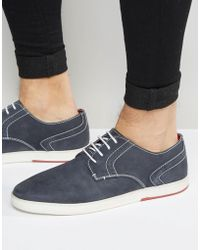 Dune - Derby Shoes In Navy - Lyst