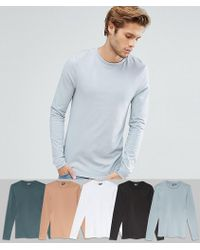 ASOS - Extreme Muscle Fit Long Sleeve T-shirt 5 Pack Save - Lyst