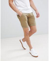 Blend | Chino Shorts In Khaki | Lyst