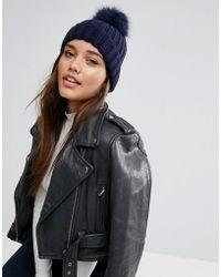 Warehouse - Faux Fur Pom Hat - Lyst