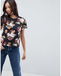 ASOS - T-shirt In Floral Print - Lyst