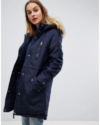 Vero Moda - Faux Fur Trim Expedition Parka - Lyst