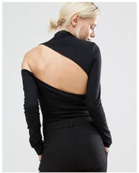 Lost Ink - High Neck Body With Cutout Back - Lyst