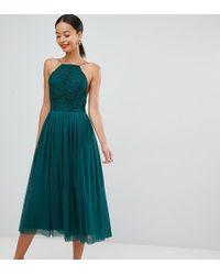 ASOS Asos Design Premium Tall Tulle Midi Prom Dress