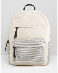 Mango - Canvas Backpack - Lyst