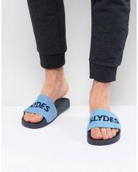 Slydes - Plya Terry Towelling Slider Flip Flops - Lyst