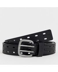 Original Penguin - Stitch Detail Belt In Black - Lyst