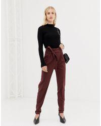 6c6ac6334896 Lavish Alice Paper Bag Waist Pants In Red Animal Print in Red - Lyst