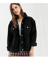 Reclaimed (vintage) - Inspired Oversized Denim Jacket - Lyst