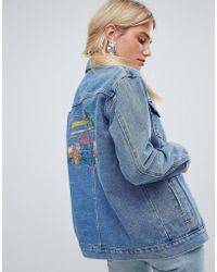 Oasis - Havana Slogan Denim Jacket - Lyst
