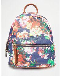 Liquorish - Floral Print Backpack - Multi - Lyst